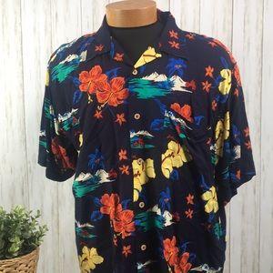 Cherokee Waikiki Wear Hawaiian Shirt Tropical XL